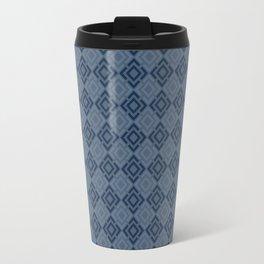 blue, grid,cellular Travel Mug