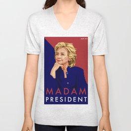 Hillary Poster  Unisex V-Neck