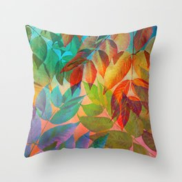 Autumn Lights and Colors Throw Pillow