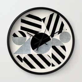 Abstraction_Geometric_SHAPES Wall Clock