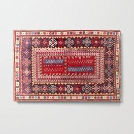 Milas  Antique Turkish Rug Print Metal Print