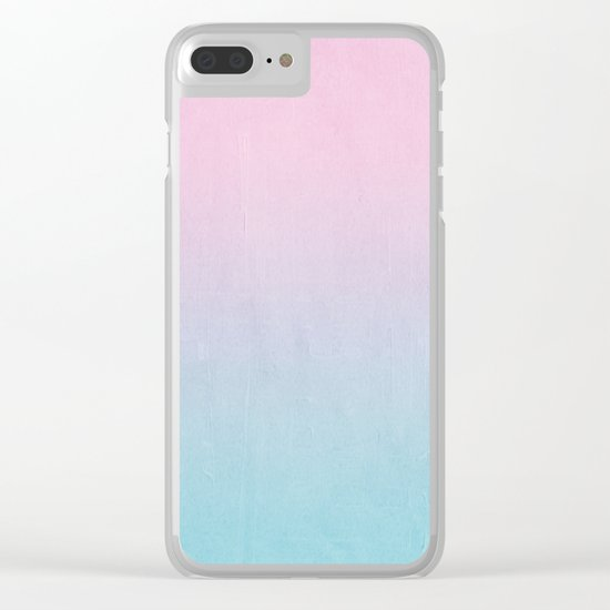 Dream fade pastel tropical chill painting abstract art for minimalist Clear iPhone Case