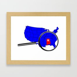 State of Alabama Framed Art Print
