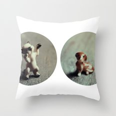 Cats & Dogs Throw Pillow