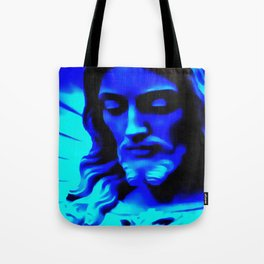 Blue Jesus Tote Bag