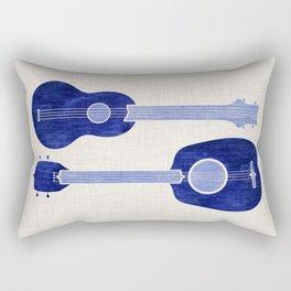 Indigo Blue Ukuleles Rectangular Pillow