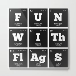 Periodic Elements: Fun with Flags Metal Print