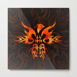 Fire Phoenix Bird Metal Print