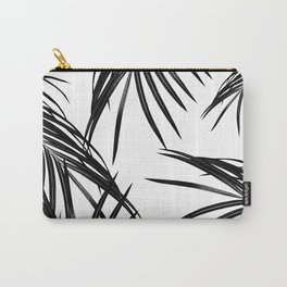 Black Palm Leaves Dream #1 #tropical #decor #art #society6 Carry-All Pouch