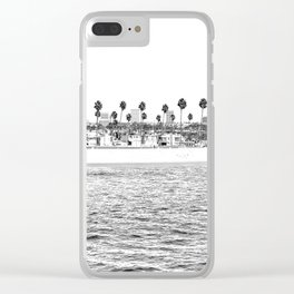 Vintage Newport Beach Print {4 of 4} | Photography Ocean Palm Trees B&W Tropical Summer Sky Clear iPhone Case