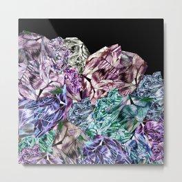 Crystal Mountain Ultraviolet Metal Print