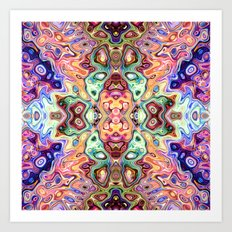 Colorful Mirror Image Abstract Art Print