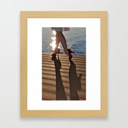 When High Heels Meet Hardwood. Framed Art Print