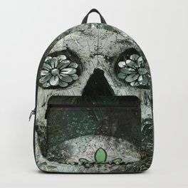 Palm Tree Beach Sugar Skull Backpack
