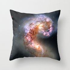 Antennae Galaxies Throw Pillow