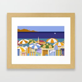 MORNING AT THE BEACH Framed Art Print