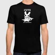 Cute but Deadly Black LARGE Mens Fitted Tee