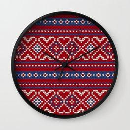 Pattern in Grandma Style #65 Wall Clock