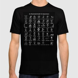 An Illustrated Guide To Improvisers (Reverse) T-shirt