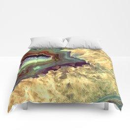 Colorful Earth Tones Quartz Crystal Comforters