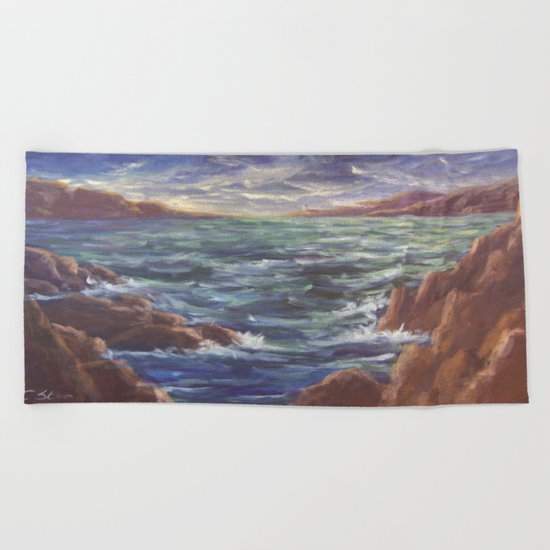 Lighthouse in the Distance AC150426 Beach Towel