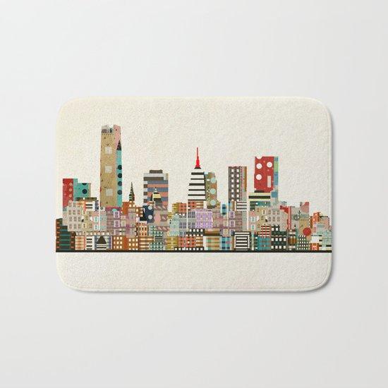oklahoma city skyline Bath Mat