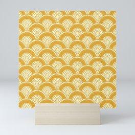 Yellow Wabi Sabi Wave II Mini Art Print