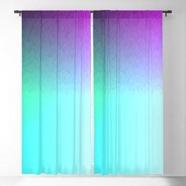 Six Color Ombre Cyan, Purple, Green, Pink, Purple, Blue, Spectrum Flame Blackout Curtain