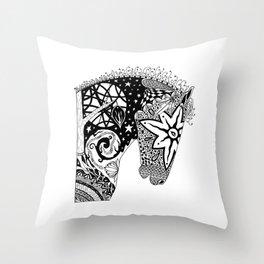 Arrow Contado - The Horse Muse Throw Pillow
