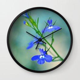 BLUE LOBELIA Wall Clock