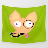 rocky Wall Tapestries featuring Rocky by Designs By Misty Blue (Misty Lemons)