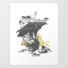 the watchers 3 B+W Art Print