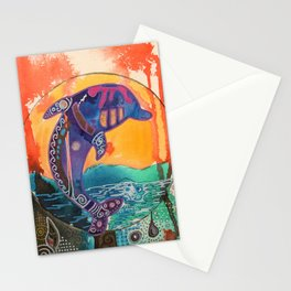 Fantastic animal - Little dolphin - by LiliFlore Stationery Cards