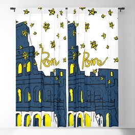 Rome Italy Colosseum Starry night Blackout Curtain