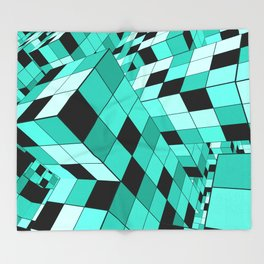 Rubik series 1, mint Throw Blanket