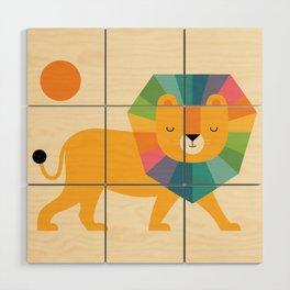 Lion Shine Wood Wall Art