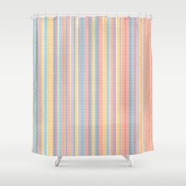 Color grid Shower Curtain