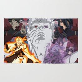 Naruto Sasuke Obito Madara Hashirama Rug