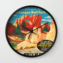 Vintage poster - Bryce Canyon Wall Clock