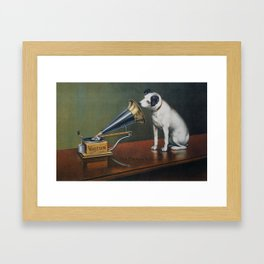 Barraud, Francis (1856-1924) - His Master's Voice Ad, The Theatre c.1910 Framed Art Print