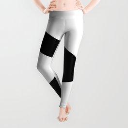 Greater-Than Sign (Black & White) Leggings
