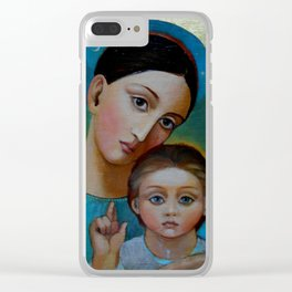 Madonna in golden ark Clear iPhone Case