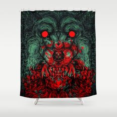 A wolf in the shape of a girl Shower Curtain