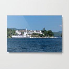 The Sagamore Hotel & Lac du Saint Sacrement Steamboat Metal Print