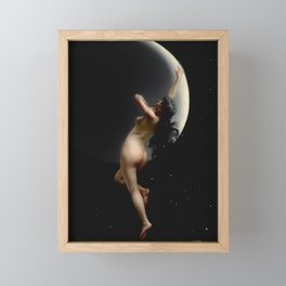 "Luis Ricardo Falero ""Night (also known as Moon Nymph)"" Framed Mini Art Print"