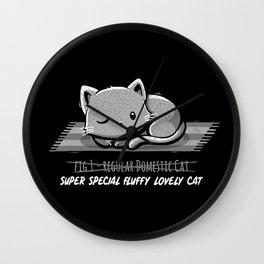 Not a Regular Domestic Cat Black Wall Clock