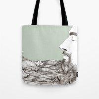 beard Tote Bags featuring Beard  by Centprent