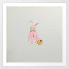 Toddlers Easter Bunny Costume Rabbit Art Print