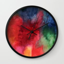 Watercolor turbulence Wall Clock