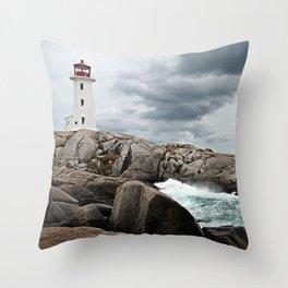 Peggy's Cove Light House -- Nova Scotia Throw Pillow